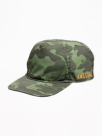 """""""Awesome"""" Camo Baseball Cap for Baby"""