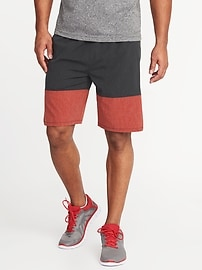 "Go-Dry Color-Block Stretch Shorts for Men (9"")"