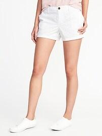 "Mid-Rise Everyday Eyelet Shorts for Women (5"")"