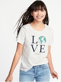 EveryWear Earth-Day-Graphic Tee for Women