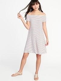 Off-the-Shoulder Swing Dress for Women
