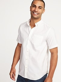 Chemise oxford Toujours-blanc, coupe standard pour homme