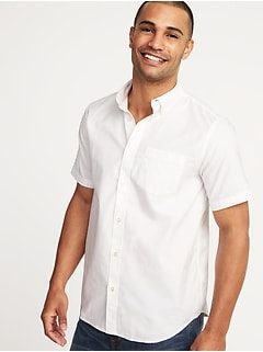 Clean-Slate Everyday Oxford Short-Sleeve Shirt for Men