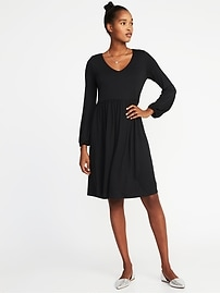 Fit & Flare Jersey-Knit Dress for Women