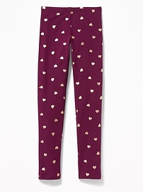 Printed Jersey Leggings for Girls