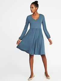 Fit & Flare Jersey-Knit Dress for Women