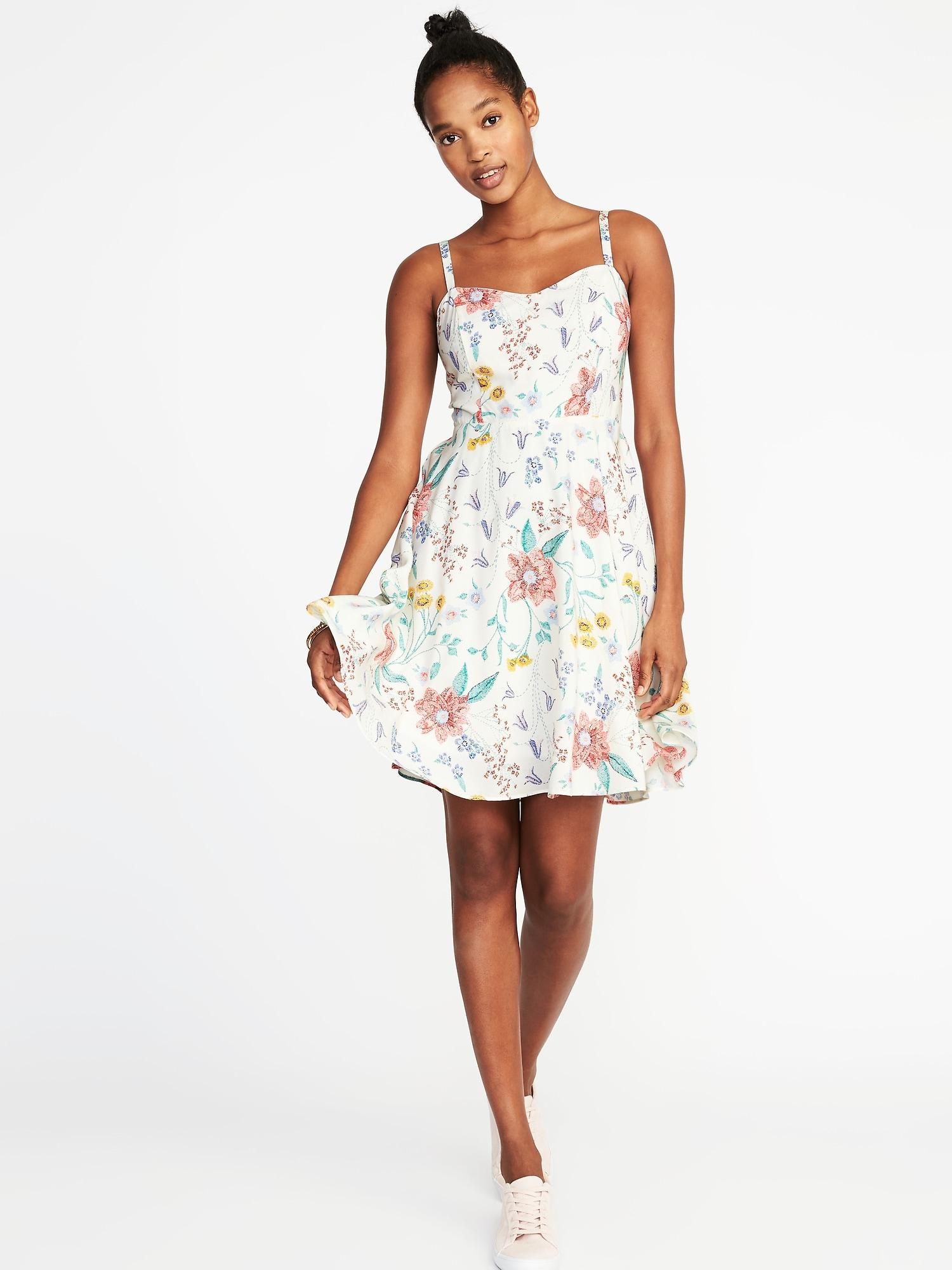 27ffbeddaf2 Fit   Flare Printed Cami Dress for Women
