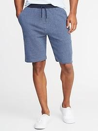 Short en jersey bouclette avec taille en sergé pour homme (23cm)