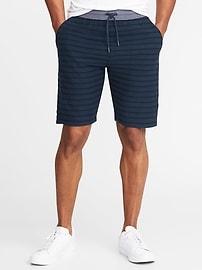 Short en jersey bouclette rayé avec taille en cambrai pour homme (23cm)
