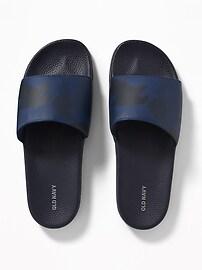 Sandales à enfiler en similicuir pour homme