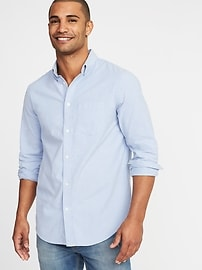 Regular-Fit Built-In Flex Oxford Shirt For Men