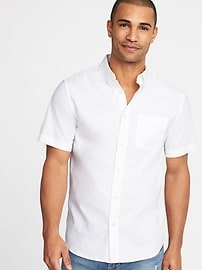 Slim-Fit Clean-Slate Built-In Flex Oxford Shirt For Men
