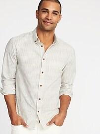 Slim-Fit Dobby Shirt for Men