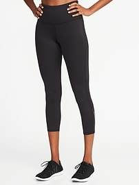 High-Rise Compression Run Crops for Women
