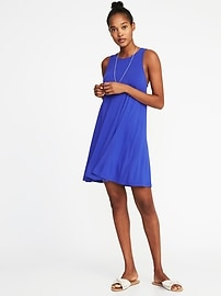 Jersey-Knit Sleeveless Swing Dress for Women