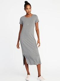 Jersey-Knit Midi Tee Dress for Women