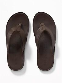 Faux-Leather Sandals for Men