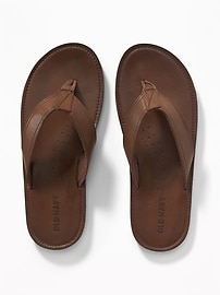 Faux-Leather Sandals for Men