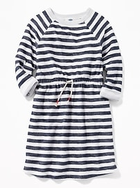 Striped Terry-Knit Dress for Girls