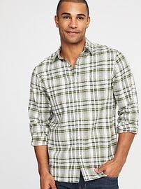 Regular-Fit Linen-Blend Shirt for Men