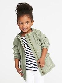 Drapey Twill Anorak for Toddler Girls