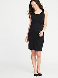 Maternity Twist-Front Bodycon Tank Dress