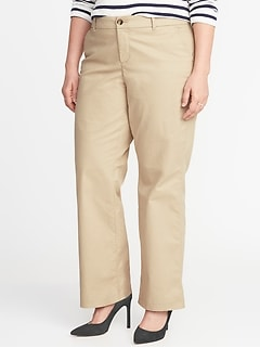 Secret-Slim Pockets Plus-Size Everyday Boot-Cut Khakis