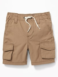 Pull-On Canvas Cargo Shorts for Toddler Boys