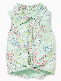 Floral-Print Jersey Tunic for Toddler Girls
