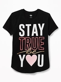 T-shirt à imprimé à encolure ras du cou pour fille