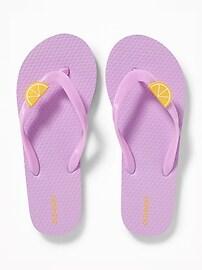 Fruit-Charm Flip-Flops for Girls