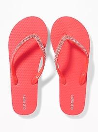 Rhinestone Flip-Flops for Girls