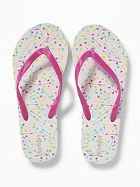 Printed Flip-Flops for Girls