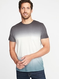 Dip-Dye Pocket Tee for Men