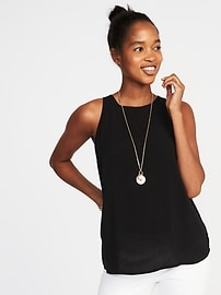 Relaxed Sleeveless High-Neck Top for Women