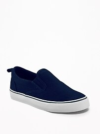 Canvas Slip-Ons for Boys