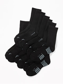 Go-Dry Crew Socks 6-Pack for Boys