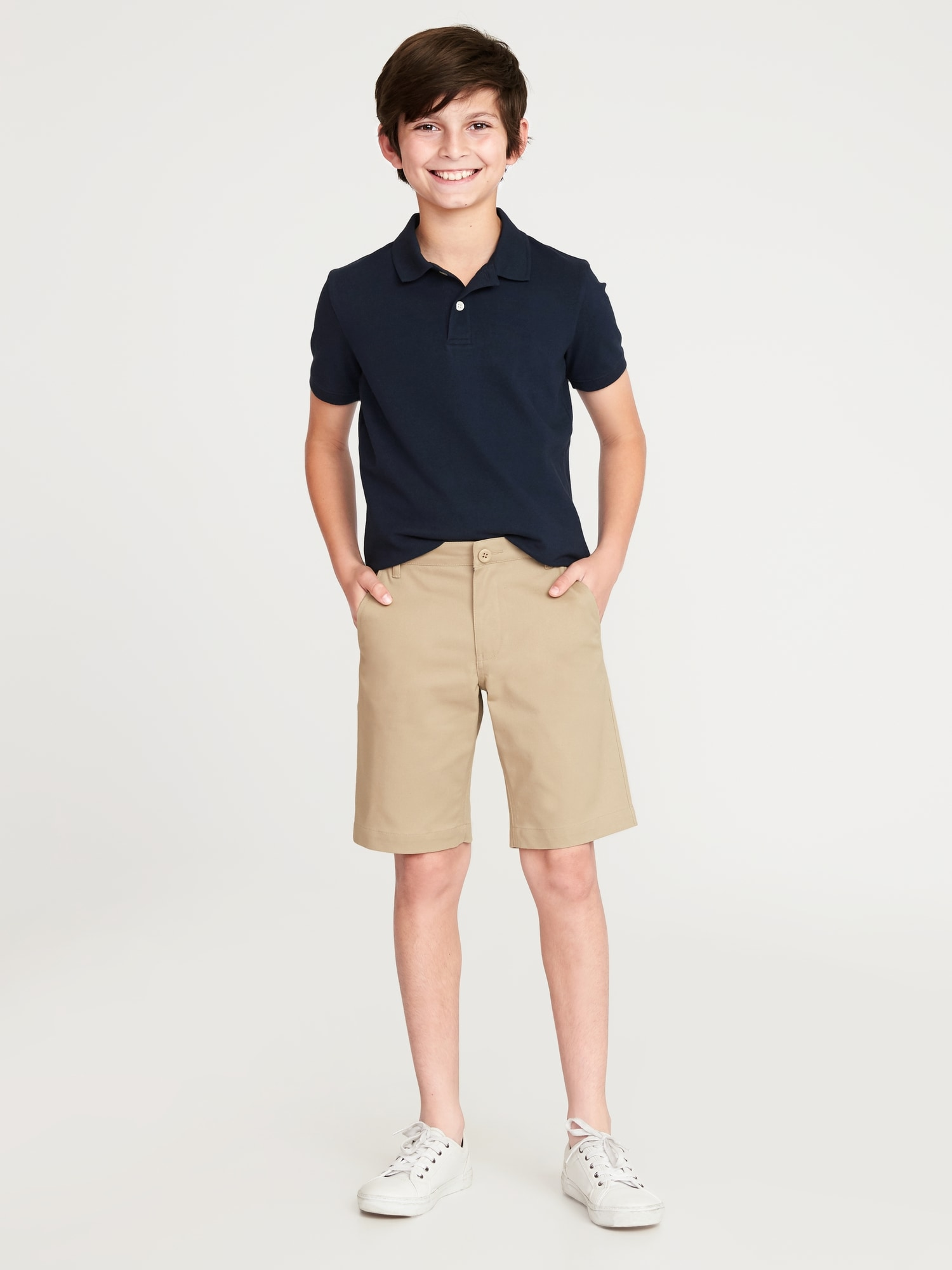 51c4a0aed871 Built-In Flex Twill Straight Uniform Shorts for Boys | Old Navy