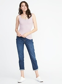 77b8e6f5c730e First-Layer Fitted Rib-Knit Tank for Women