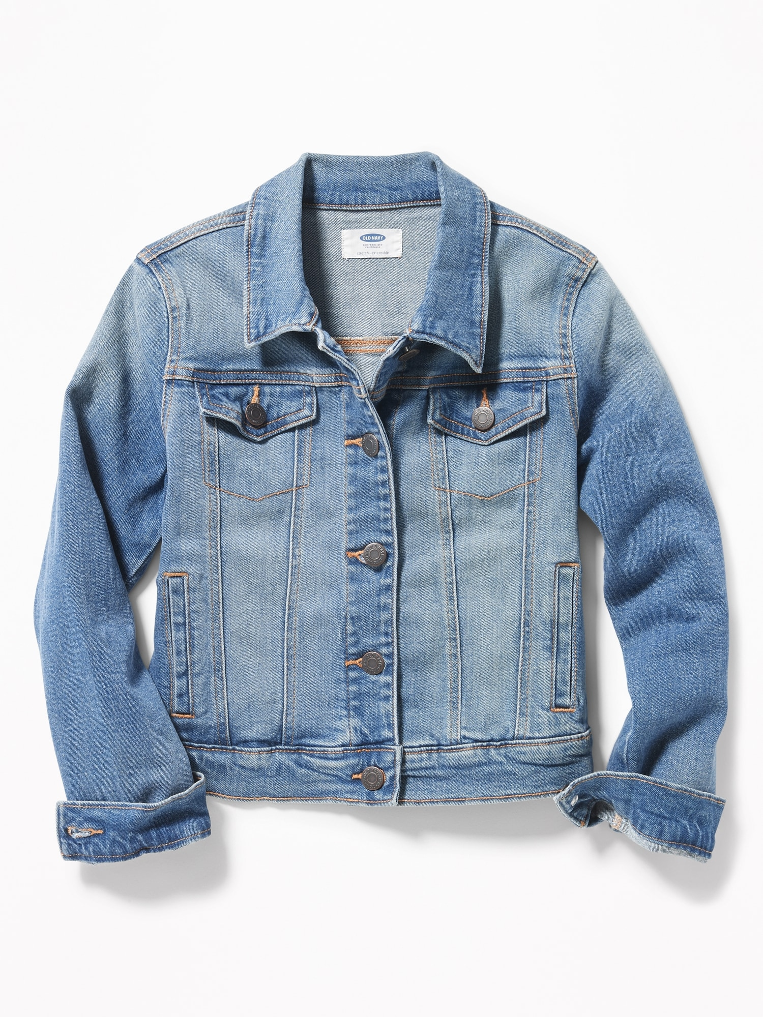 ae7a94ef Medium-Wash Denim Jacket for Girls | Old Navy