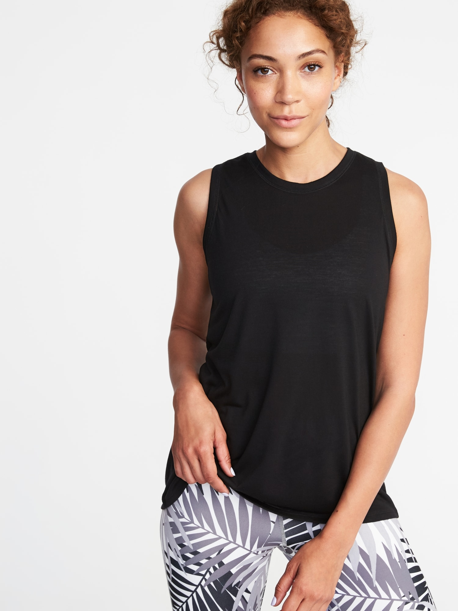 ea06fa8aec4ff2 Relaxed Mesh-Back Fly-Away Tank for Women