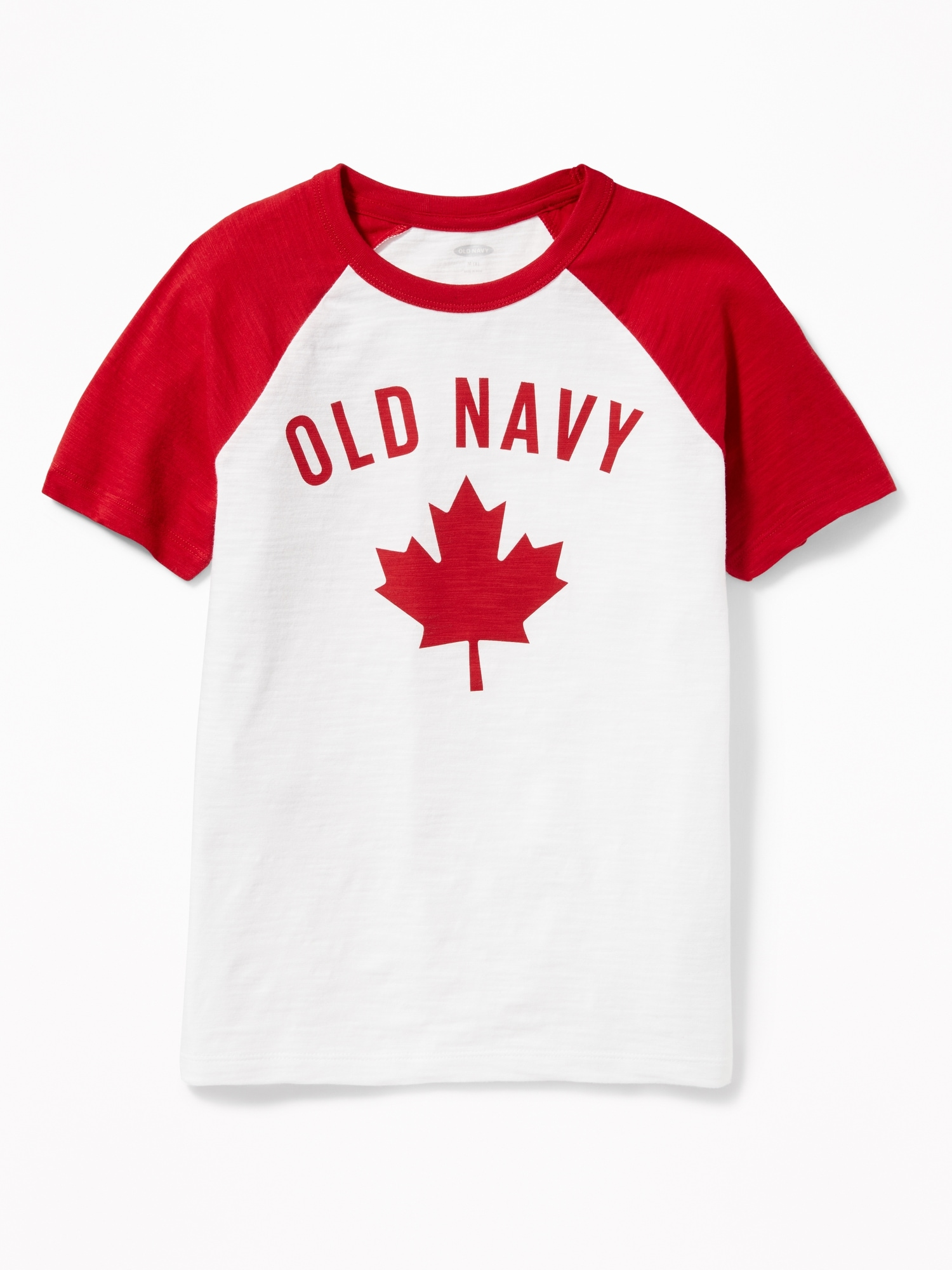 d6c2bc00f Slub-Knit Logo Raglan Tee for Boys | Old Navy