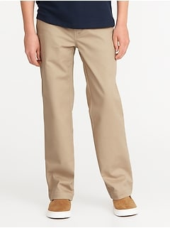 Uniform Built-In Flex Stain-Resistant Straight Khakis for Boys