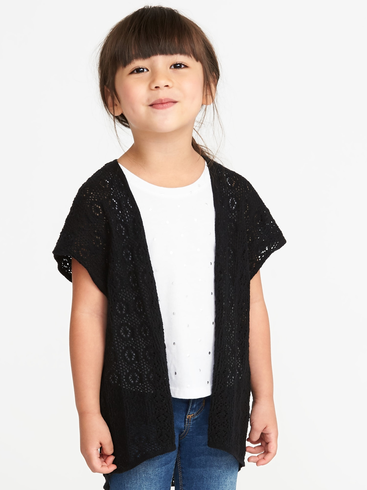 7413cfaf4 Open-Front Kimono-Sleeve Sweater for Toddler Girls | Old Navy