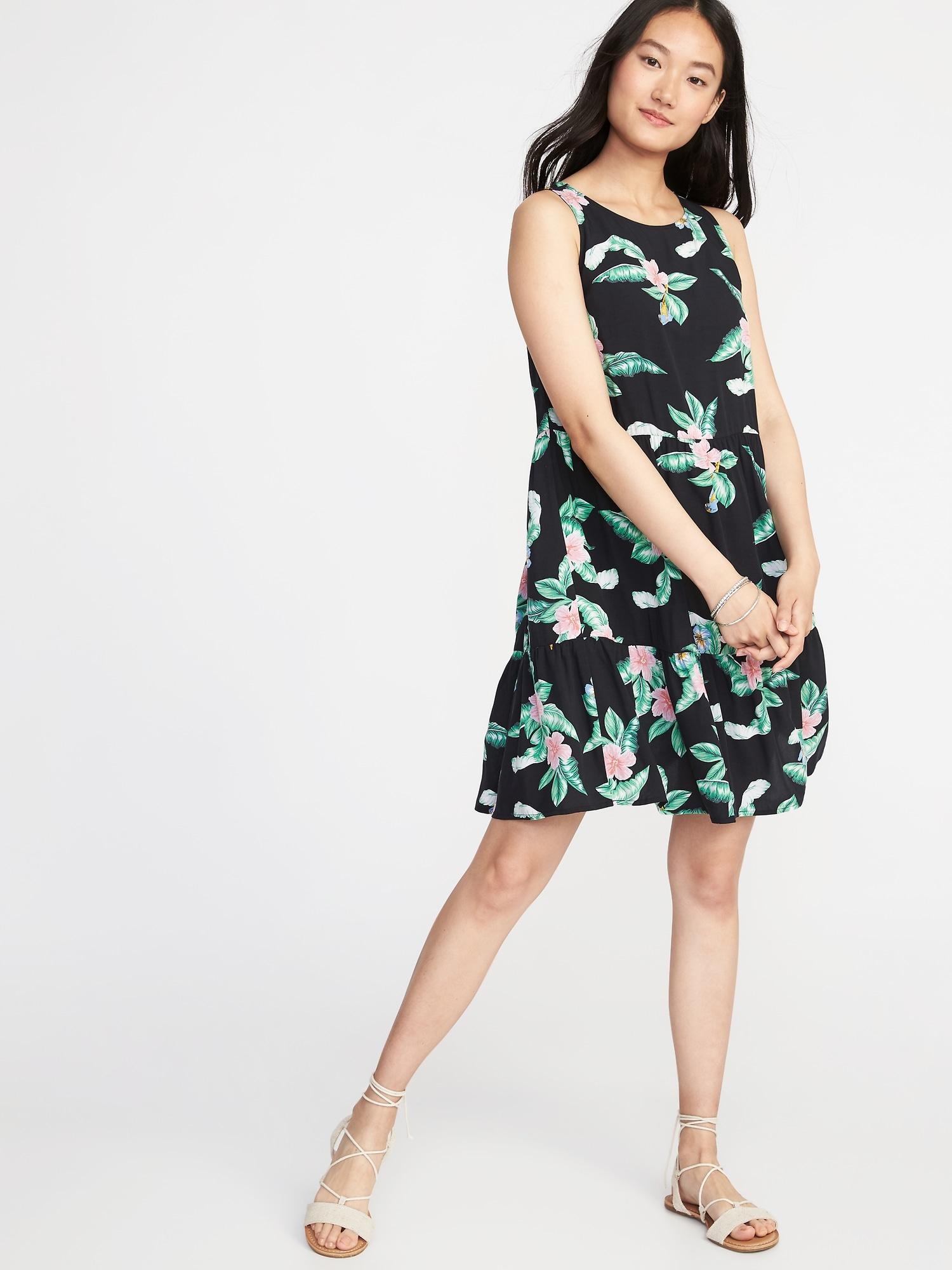 004260e9f1446 Sleeveless Tiered Swing Dress for Women
