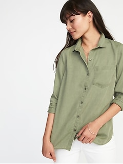 Relaxed Tencel® Shirt for Women