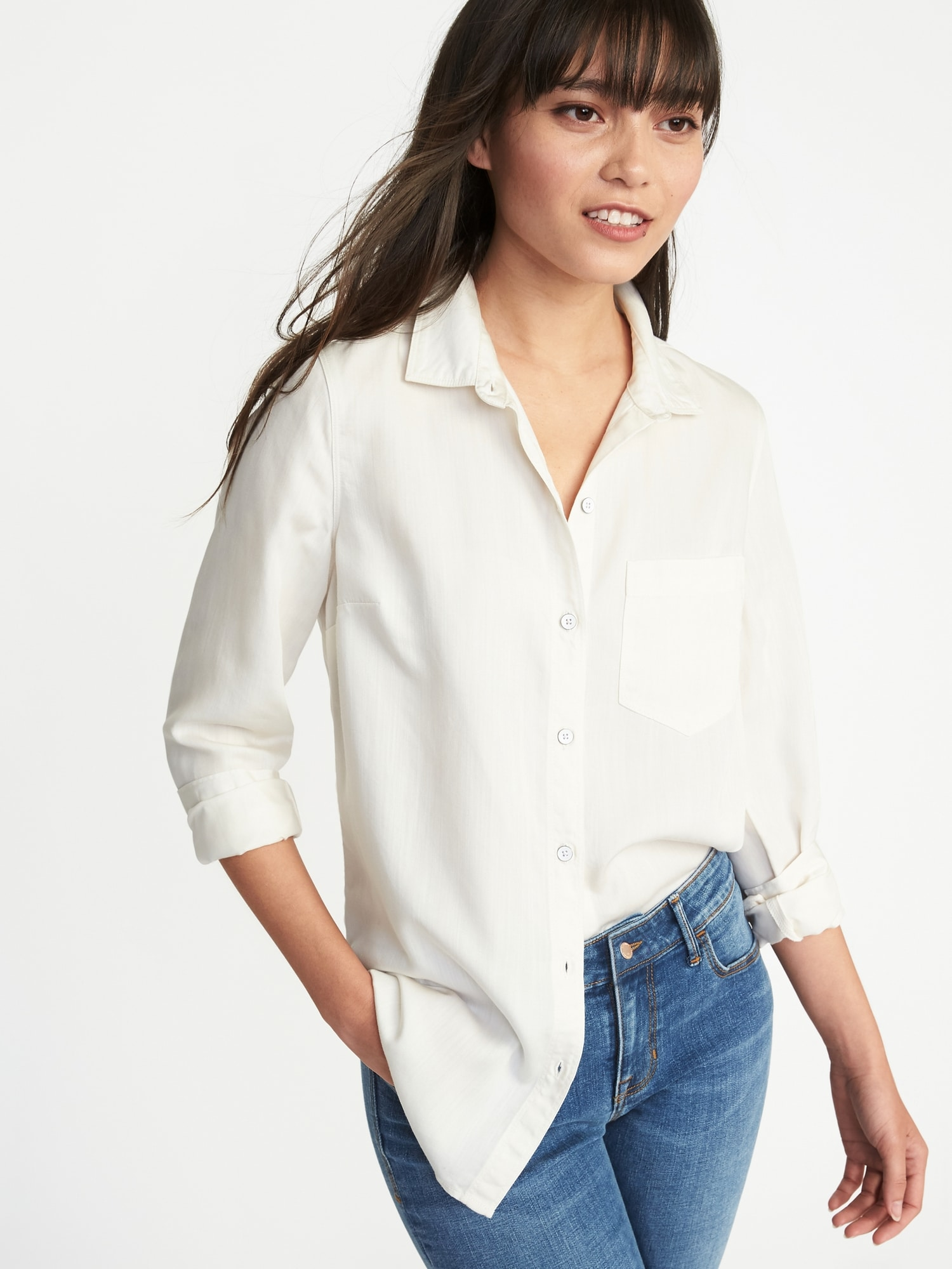 c8be81fe93 Relaxed Tencel® Shirt for Women