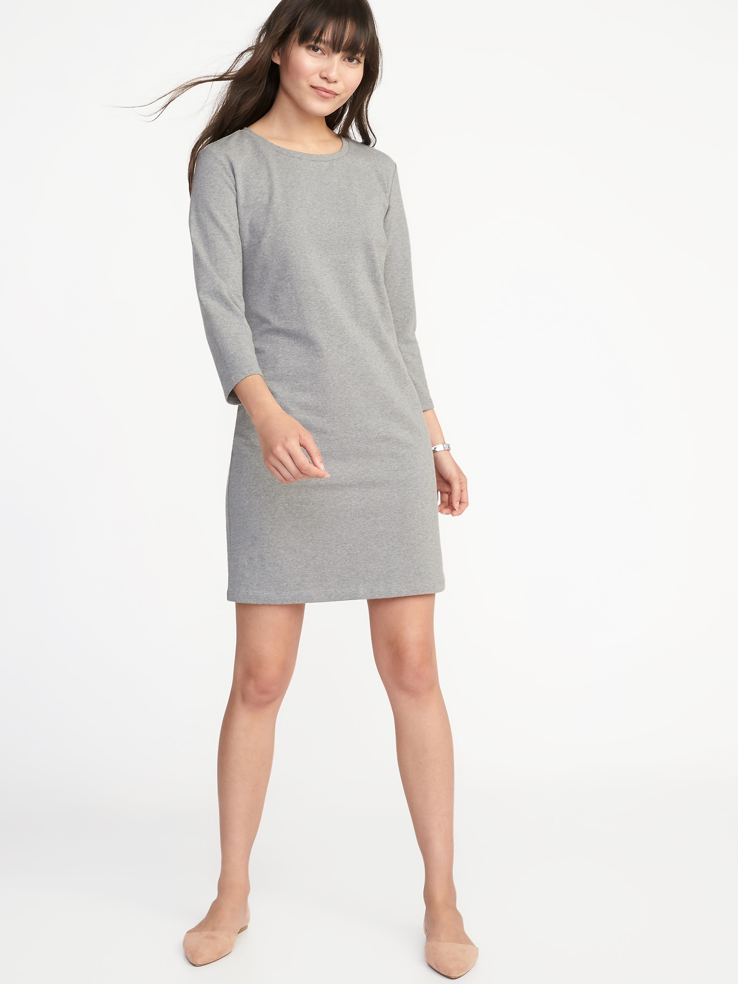 5ccdca5bd56 Fitted Crew-Neck Jersey Tee Dress for Women