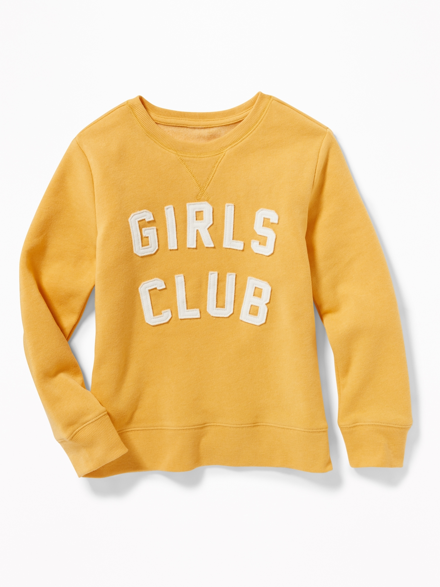 Relaxed Graphic Fleece Sweatshirt For Girls by Old Navy