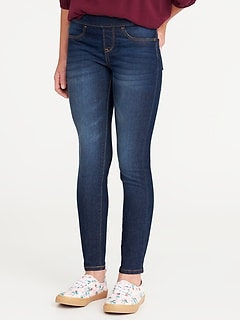 Skinny Built-In Tough Pull-On Jeans for Girls
